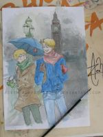 usuk watercolor by DeerAzeen