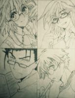 Tsubasa Gang with Glasses by xox-Brittany-xox
