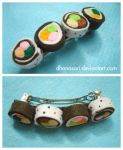 sushi hairclip by Dhanasari