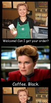 Janeway and Coffee by Rhov
