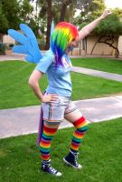 Rainbow Dash cosplay - Takeoff by Emmalyn