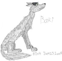 Baki the wolf dog thing... by Herure