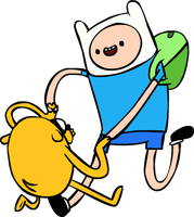 finn and jake by LazerSofa