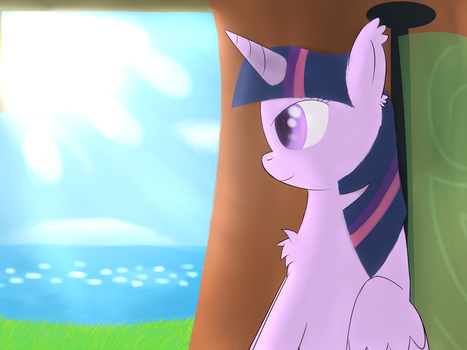 Mane 6 traveling : Twilight by Ghost3641