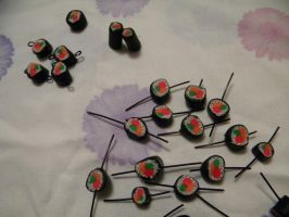 Sushi Beads by ElizzaBeast