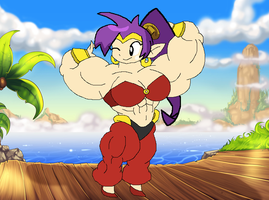 Shantae: Whole Muscle Hero [Art Trade] by coopmarie