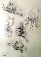 Hands sketch - Practicing by Lilaccu