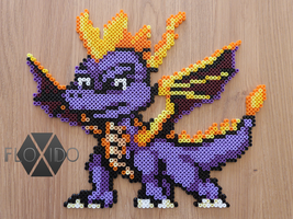 Spyro the Dragon - Hama and Perler beads by floxido