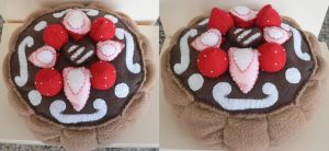 Chocolate Cake Plush by thislittlechicken