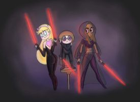 Star Butterfly, Connie Maheswaran,Chloe Park: Sith by Hichcoot