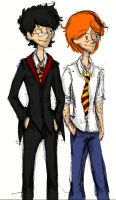 Harry and Ron doodle by Flobblex