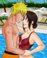 NaruTen: Pool Intimacy (Close-up) by JuPMod