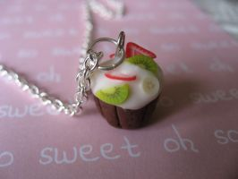 fruit cupcake necklace by maytel