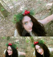 Pine Bounty Floral Crown by ValkyrieOfODIN