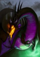 Maleficent Dragon Form by Deputee