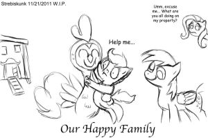 Happy Family - sketch by Strebiskunk