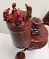 assemblage wide red monster 5 by rupertvalero