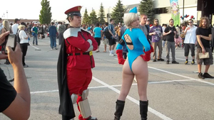 Cammy and bison by CosplayButterfly