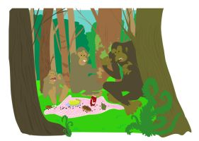bigfoot picnic by fossick