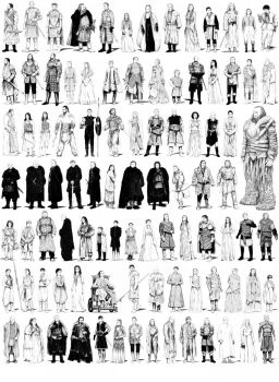 Game of Thrones characters set by zblu