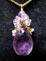 Amethyst Cluster Pendant by SnortinGlitter