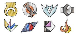 Valmio Gym Badges BIG Version by Pokemon-Diamond