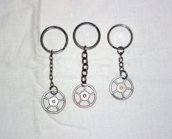 Gear Keychains by Spooky-Elric