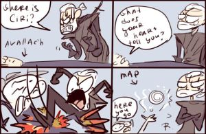 The Witcher 3, doodles 17 by Ayej