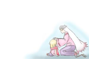 OKAMIDENSPOILER Waka and Kurow by MiharuZee