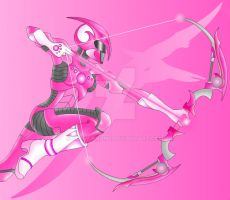 pink power ranger by Know-Kname