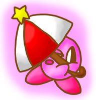 Parasol Kirby by Nintooner