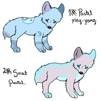 PASTEL CANINE ADOPTS - OPEN. {LOWERED PRICE} by Suicidal-Trouble