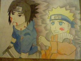 Sasuke and Naruto by inspired118