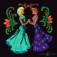 Elsa and Anna High Fashion | Video Tutorial by NovellineArt