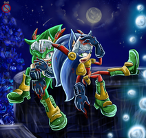 CM: Zonic and Scourge by shadowhatesomochao