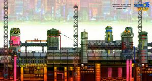 Chemical Plant background concept by Nerkin