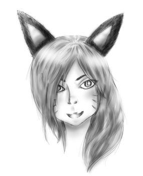 Ahri face by Laurelyne