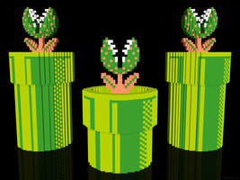 3D Mario Piranha Plants by NES--still-the-best