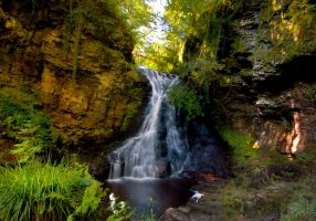 Hareshaw Linn Waterfall 5 by newcastlemale