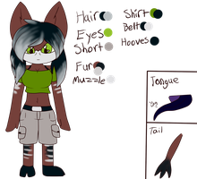 Jane the Okapi ref by Jelly-Cupcake