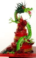 Dragon Wedding cake by PastryPalace