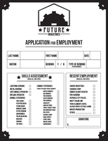 Future Industries Application for Employment by Hollens