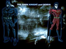 TDK and Robin wallpaper blue by phil-cho