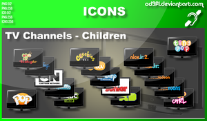 TV Channel Icons - Children by od3f1