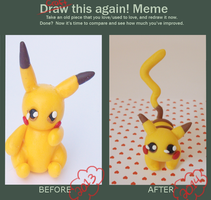 Meme craft this again- Pikachu! by FairysLiveHere