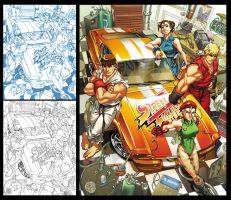 Street Fighter Tribute piece by diablo2003