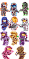 RvB Phone Charms by Synnesai