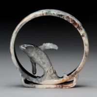 Pit Fired Whale Ring by AldrichValleyPottery