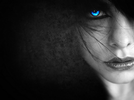 Blue Eyes in Dark Background by joaovitor2763