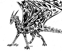 Tribal Dragon - First Try by DragonLover4Ever